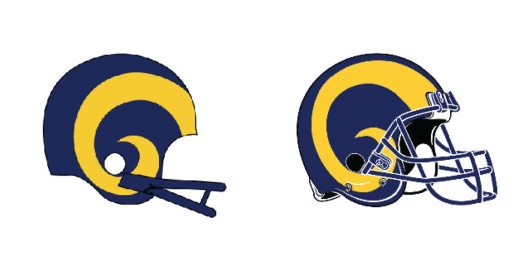 Super Bowl Rams Evolution Of The Brand Gallardo Graphics
